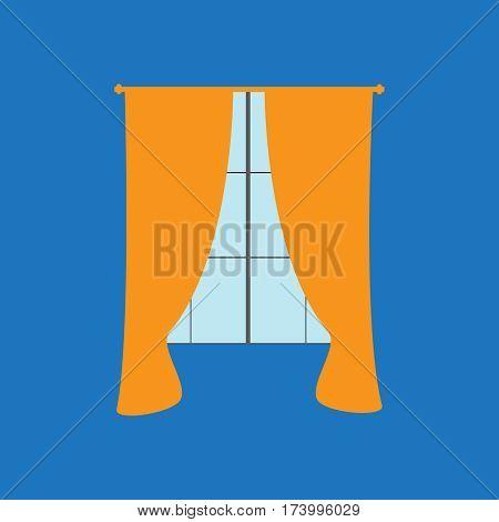 Vector black curtain icons. Curtain vector sign