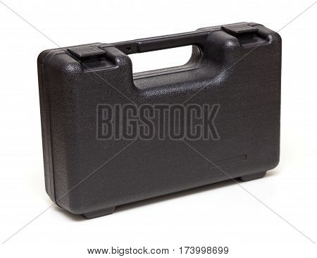 black toolbox isolated on a white background