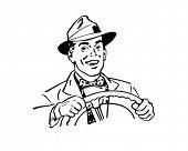 Happy Driver - Retro Clip Art poster