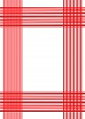 Red vertical and horizontal lines against a white background. poster