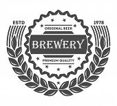 Beer logo pub vintage isolated label vector illustration. Brewing beer logo company symbols. Best craft beer logo premium quality icon. Fresh brewed beer product. Beer logo template. Layout of beer logo. poster