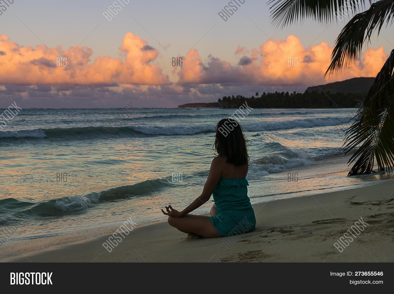 Woman Practicing Yoga Image Photo Free Trial Bigstock