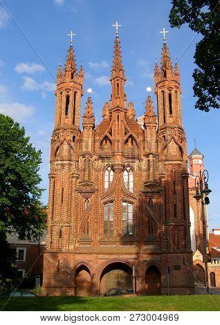 Gothic Church Of Saint Anne. Vilnius City, Lithuania