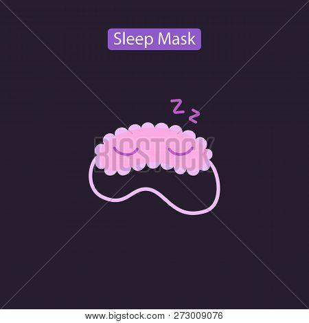 Sleep Mask Line Icon Logo Element. Flat Symbols Of Blindfolds In Colorful Circles Vector Illustratio