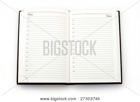 classic open notebook