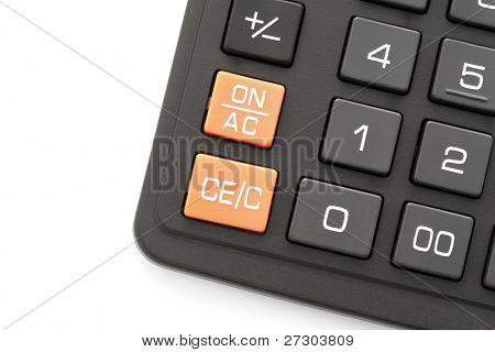 Close up of Calculator keypad