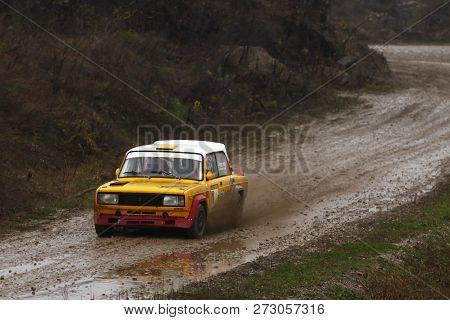 Sveta Nedjelja, Croatia - November 25, 2018. 9th Rally Show Santa Domenica. Timot Fodor And Ferenc H