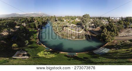 The River Amal Flows Through The Kibbutz Nir David In The Valley Of Beit Shean