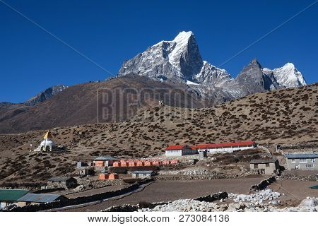 Dingboche Village On The Way To Everest Base Camp, Khumbu, Sagarmatha National Park, Nepal Himalaya