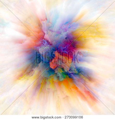 Energy Of Color Splash Explosion