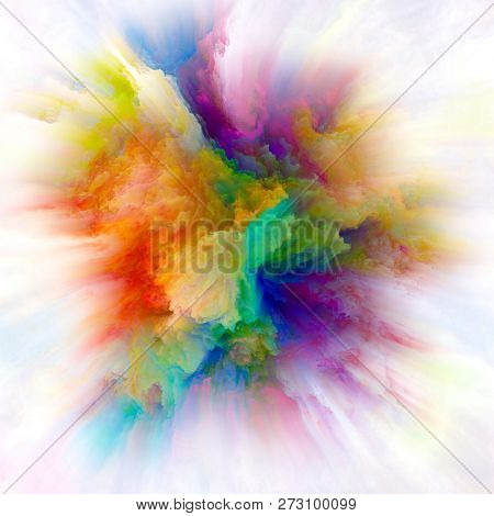 Speed Of Colorful Paint Splash Explosion