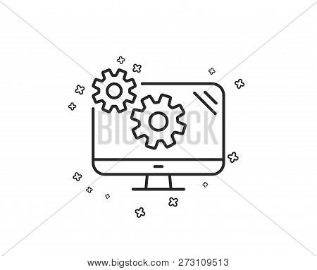 Settings Line Icon  Vector & Photo (Free Trial) | Bigstock