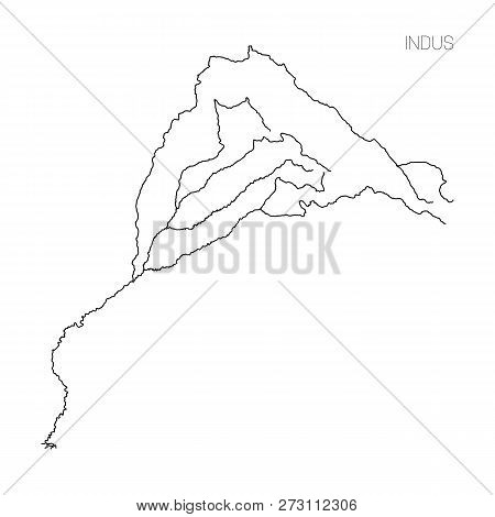 Map Indus River Vector & Photo (Free Trial) | Bigstock
