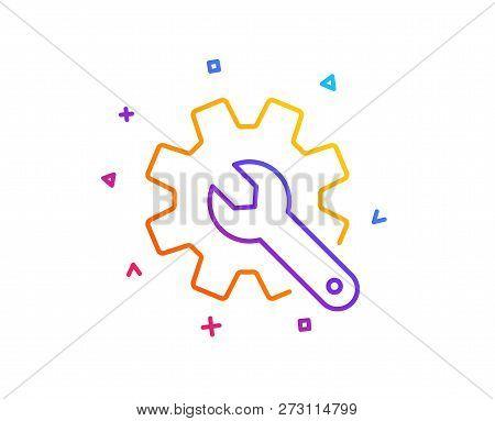Customisation Line Icon. Settings Or Editing Sign. Repair Symbol. Gradient Line Button. Customisatio