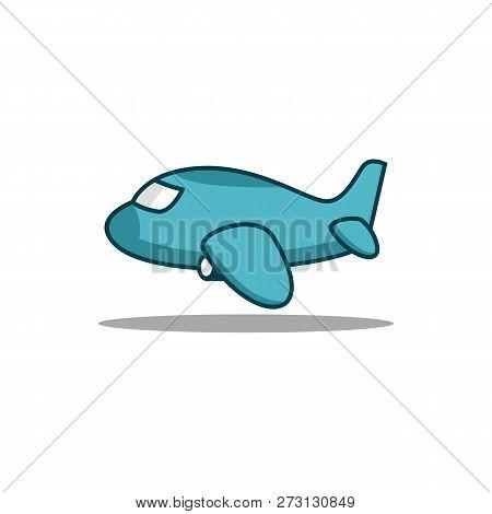 Aeroplane Cartoon Vector Photo Free Trial Bigstock