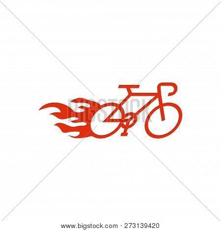 Speedy Bike Logo Design Template Vector Illustration
