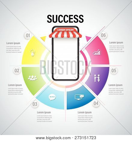 Online Marketing Concept With Smartphone For Online Shop Success