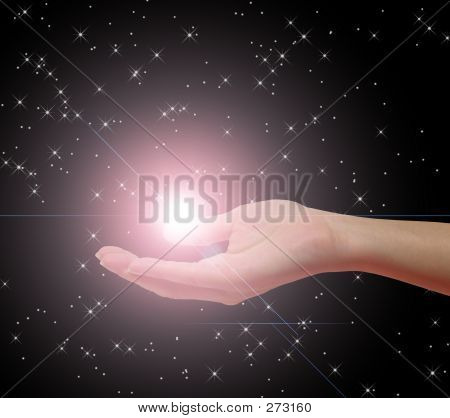 Hand Holding Star