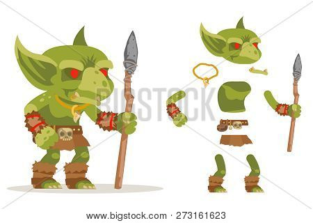 Dungeon Monster Goblin Evil Minion Fantasy Medieval Action Rpg Game Character Layered Animation Read