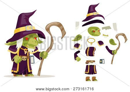 Evil Goblin Mage Sorcerer Warlock Wiseman Minion Dungeon Monster Fantasy Medieval Action Rpg Game Ch