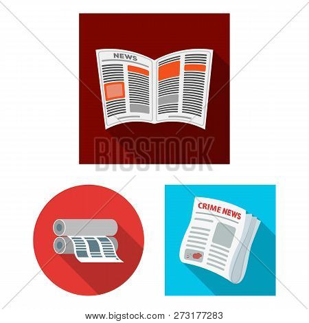 Isolated Object Of Daily And Folded Logo. Collection Of Daily And Paper Stock Symbol For Web.