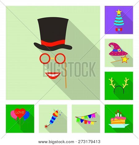 Isolated Object Of Party And Birthday Symbol. Collection Of Party And Celebration Stock Vector Illus
