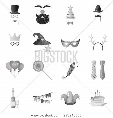 Isolated Object Of Party And Birthday Sign. Set Of Party And Celebration Stock Vector Illustration.