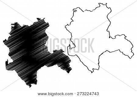 Konya (Provinces of the Republic of Turkey) map vector illustration, scribble sketch Konya ili map poster