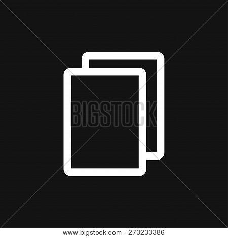Copy vector icon. Duplicate app symbol. Creative UI item poster