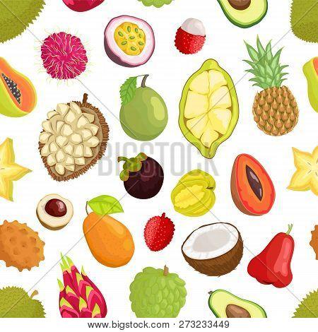 Avocado And Cupuacu, Salak And Kumquat, Lychee And Bael, Papaya And Mango, Carambola And Pineapple,