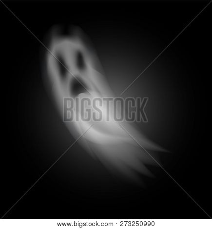 Ghost Poltergeist Creature Halloween Isolated Icon Vector. Scary Mysterious Spirit Haunting People A