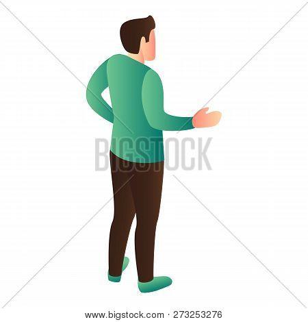 Man Explain Icon. Isometric Of Man Explain Vector Icon For Web Design Isolated On White Background