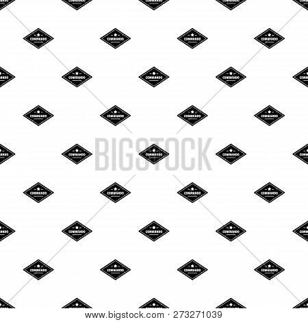 Commando troop pattern seamless vector repeat geometric for any web design poster
