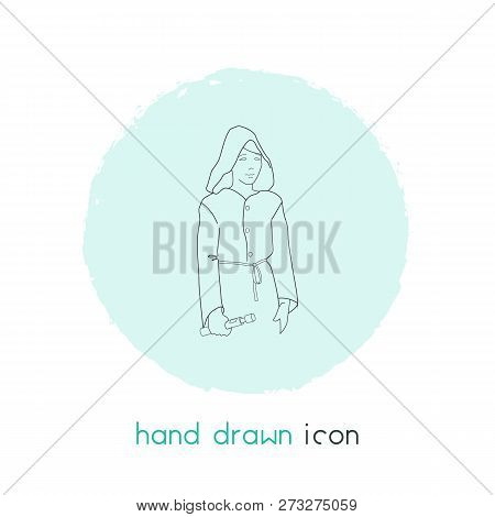 Jedi Icon Line Element. Vector Illustration Of Jedi Icon Line Isolated On Clean Background For Your
