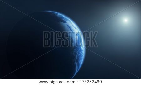 The planet Earth done with NASA textures 3d illustration