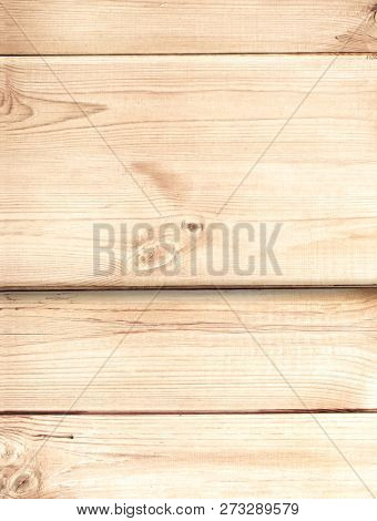 Mock up template with texture of old wooden boards of light brown color. Copy space for text