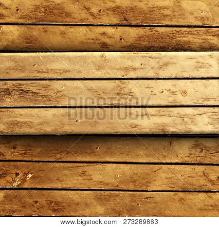 Mock up template with texture of old wooden boards of brown color. Copy space for text