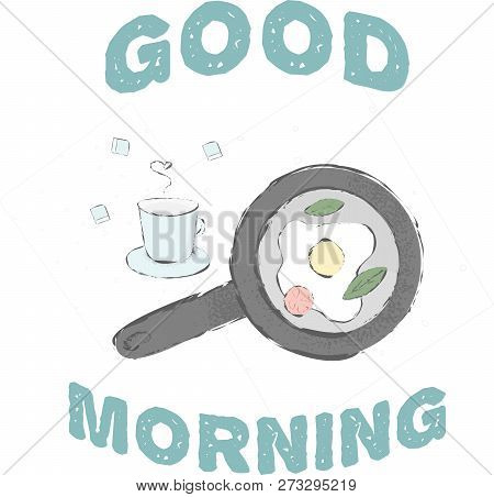 Cute Morning Sketch Vector Photo Free Trial Bigstock