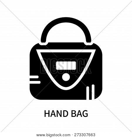 Hand Bag Icon Isolated On White Background. Hand Bag Icon Simple Sign. Hand Bag Icon Trendy And Mode