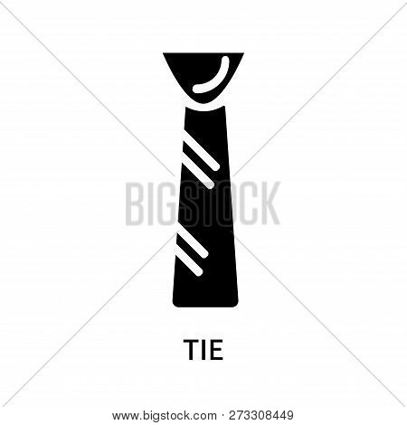 Tie Icon Isolated On White Background. Tie Icon Simple Sign. Tie Icon Trendy And Modern Symbol For G