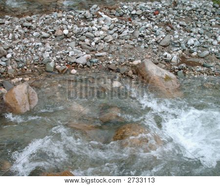 A River And Rocks