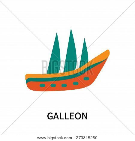 Galleon Icon Isolated On White Background. Galleon Icon Simple Sign. Galleon Icon Trendy And Modern