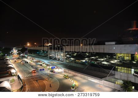 Rio De Janeiro, Brazil - December 05, 2018:  Santos Dumont Airport In The City Center. View Of The M