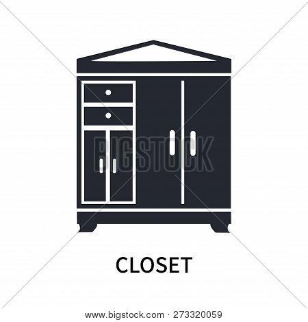 Closet Icon Isolated On White Background. Closet Icon Simple Sign. Closet Icon Trendy And Modern Sym