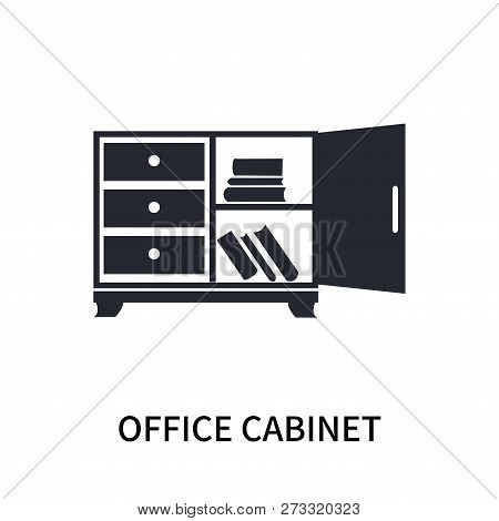 Office Cabinet Icon Isolated On White Background. Office Cabinet Icon Simple Sign. Office Cabinet Ic