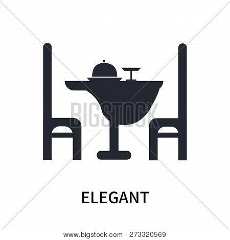 Elegant Icon Isolated On White Background. Elegant Icon Simple Sign. Elegant Icon Trendy And Modern