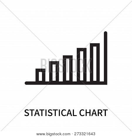 Statistical Chart Icon Isolated On White Background. Statistical Chart Icon Simple Sign. Statistical