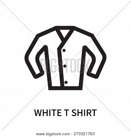 White T Shirt Icon Isolated On White Background. White T Shirt Icon Simple Sign. White T Shirt Icon