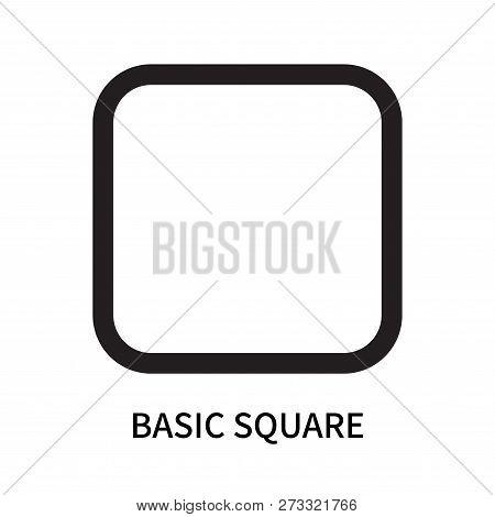 Basic Square Icon Isolated On White Background. Basic Square Icon Simple Sign. Basic Square Icon Tre