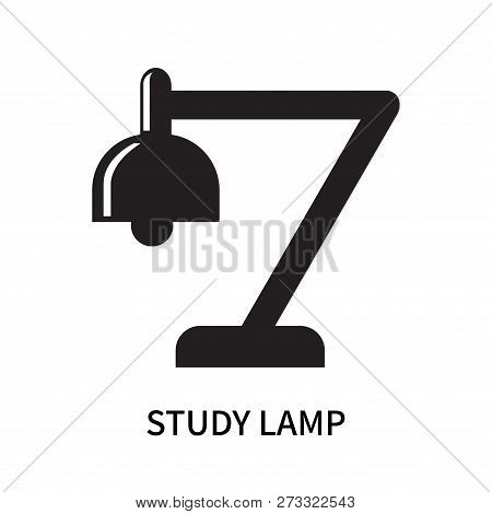 Study Lamp Icon Isolated On White Background. Study Lamp Icon Simple Sign. Study Lamp Icon Trendy An